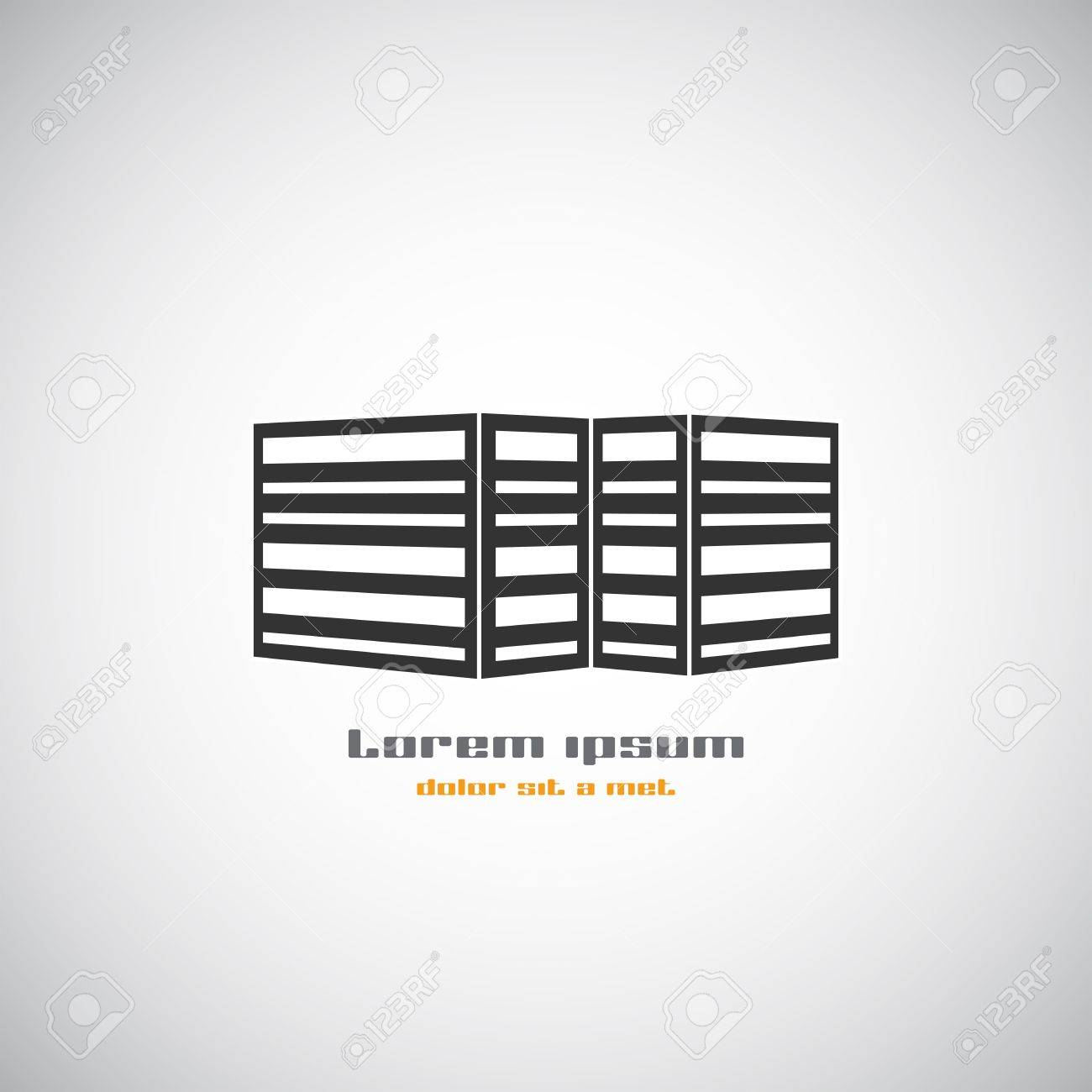 Abstract Buildings Silhouette. Real Estate House Logos Design ...