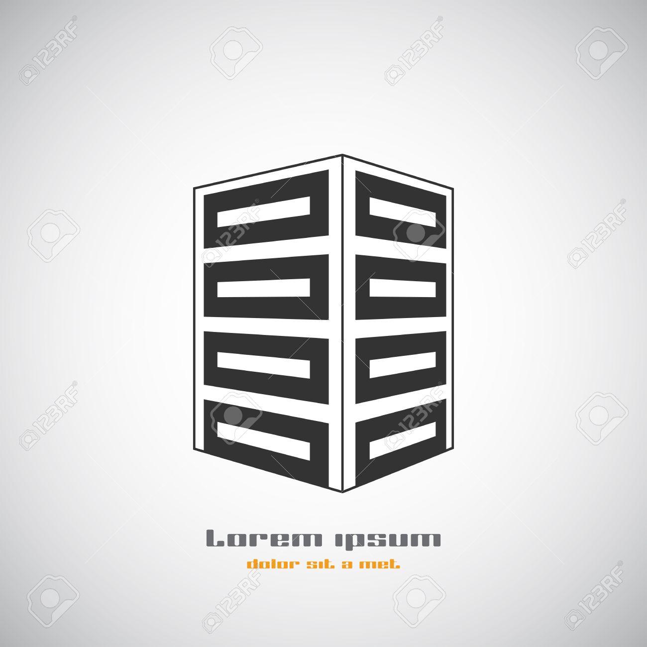 Zusammenfassung Gebäude Silhouette. Immobilien-Haus-Logos Design ...
