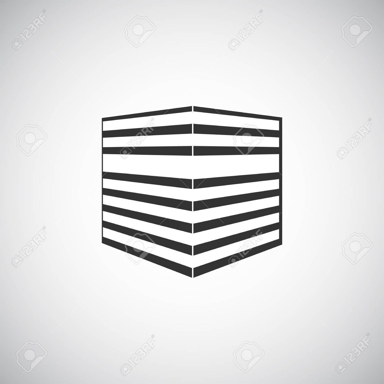 Abstraktes Gebäude-Silhouette. Immobilien Häuser Vorlagensymbol ...