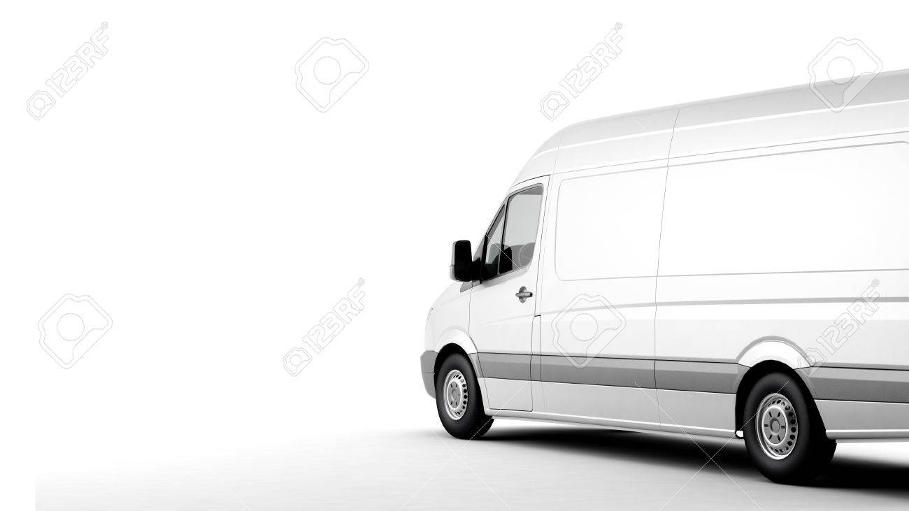 Commercial van on a white background with shadow - 39575256