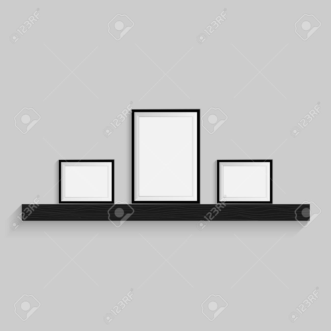 Rbol De Imagen En Blanco Negro. Plantilla De Marco Para El Diseño ...