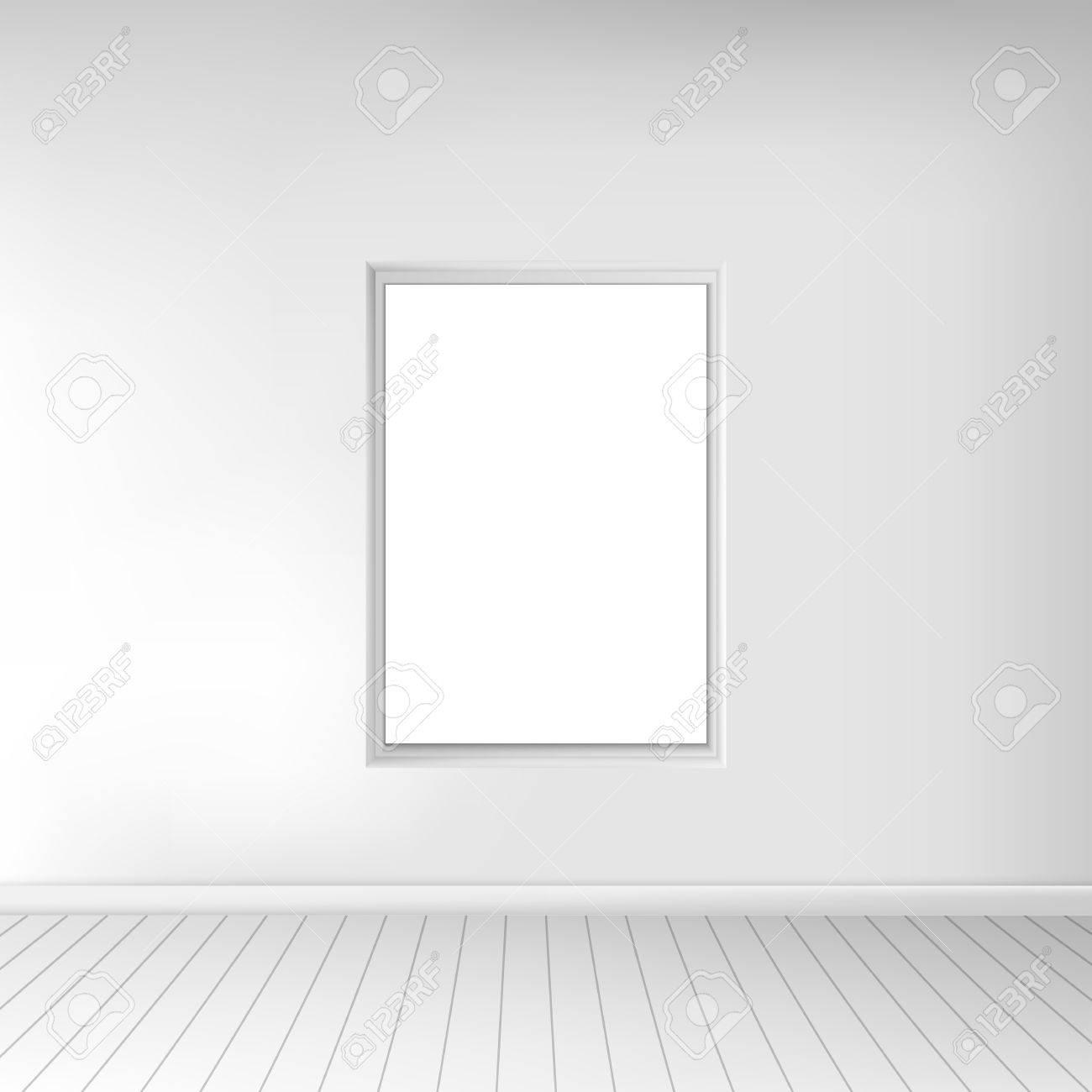 f2ea22eb6632e5 Banque d images - Une spacieuse salle blanche vide avec une image sur le  mur. intérieur Monochrome. Lors de l utilisation pour votre projet de  conception.