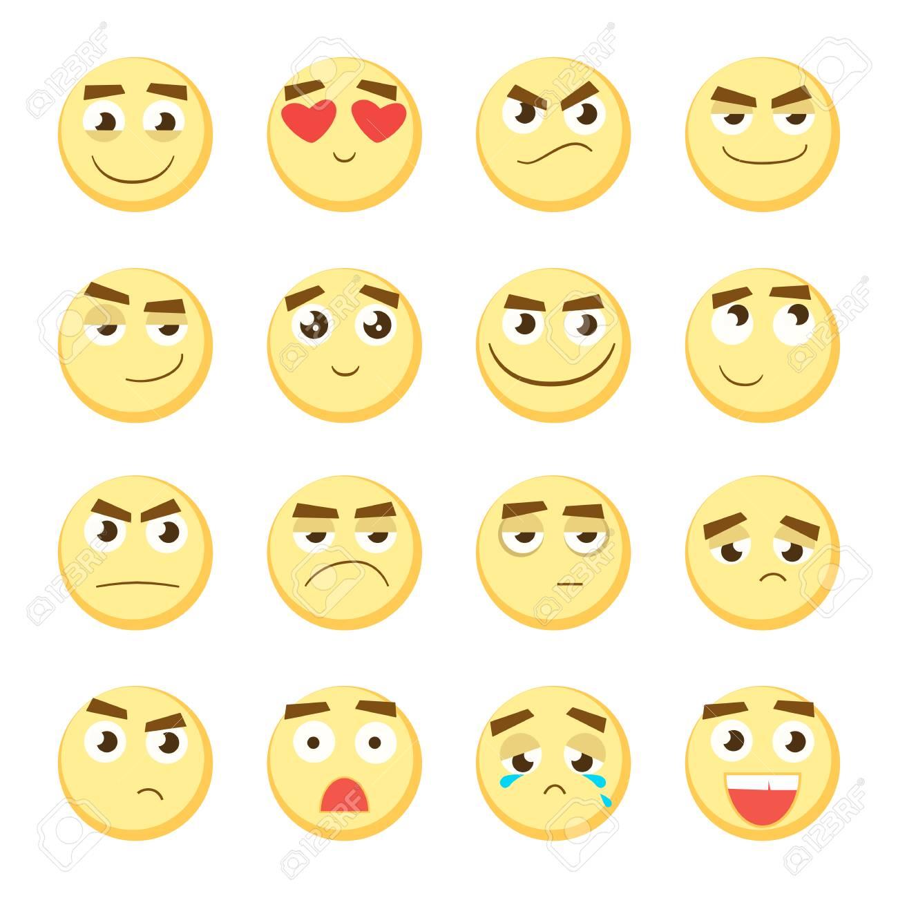 emoticon set. collection of emoji. 3d emoticons. smiley face