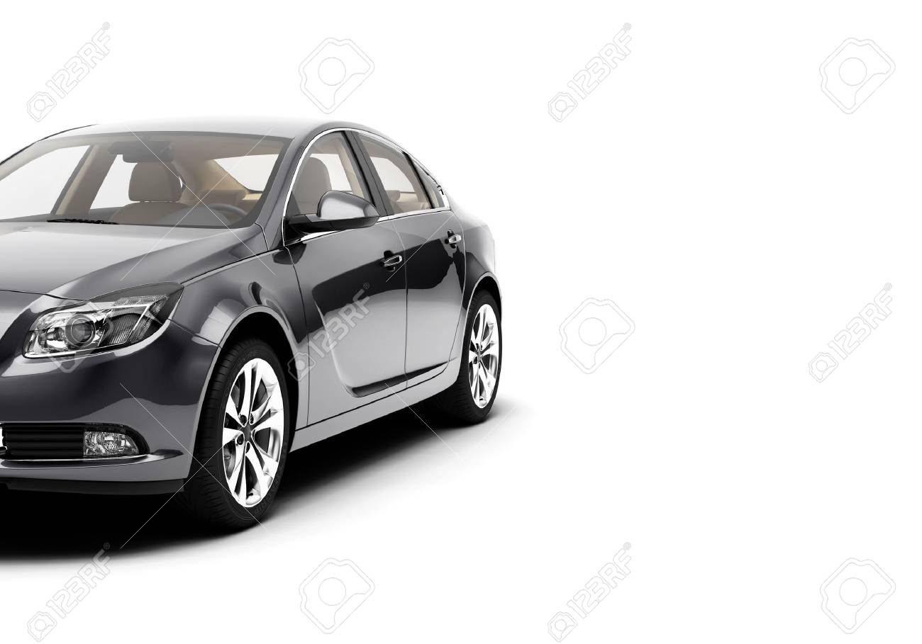 CG 3d render of generic luxury sport car isolated on a white background. 3d illutration car - 68358587