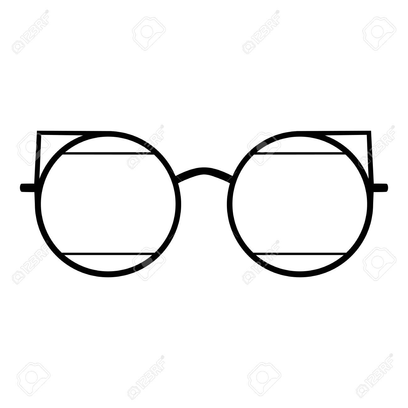 Retro Glasses Web Ui Sunglasses Black Silhouettes Eye Glasses Royalty Free Cliparts Vectors And Stock Illustration Image 126999398