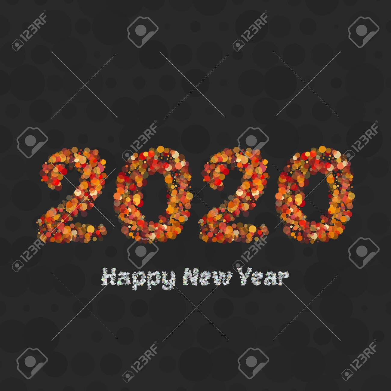 Happy New Year Flat Design 85