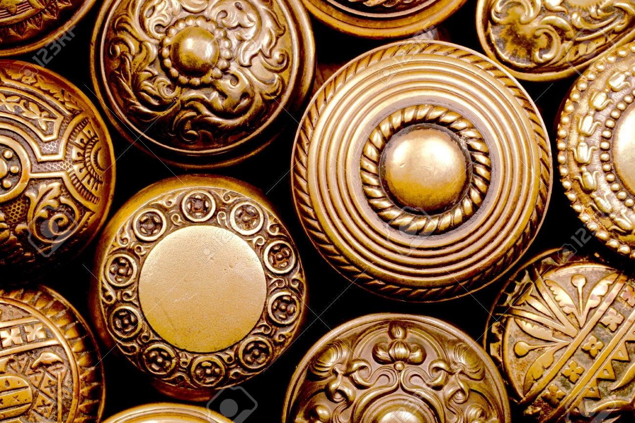 Vintage Brass Door Knobs Stock Photo Picture And Royalty Free