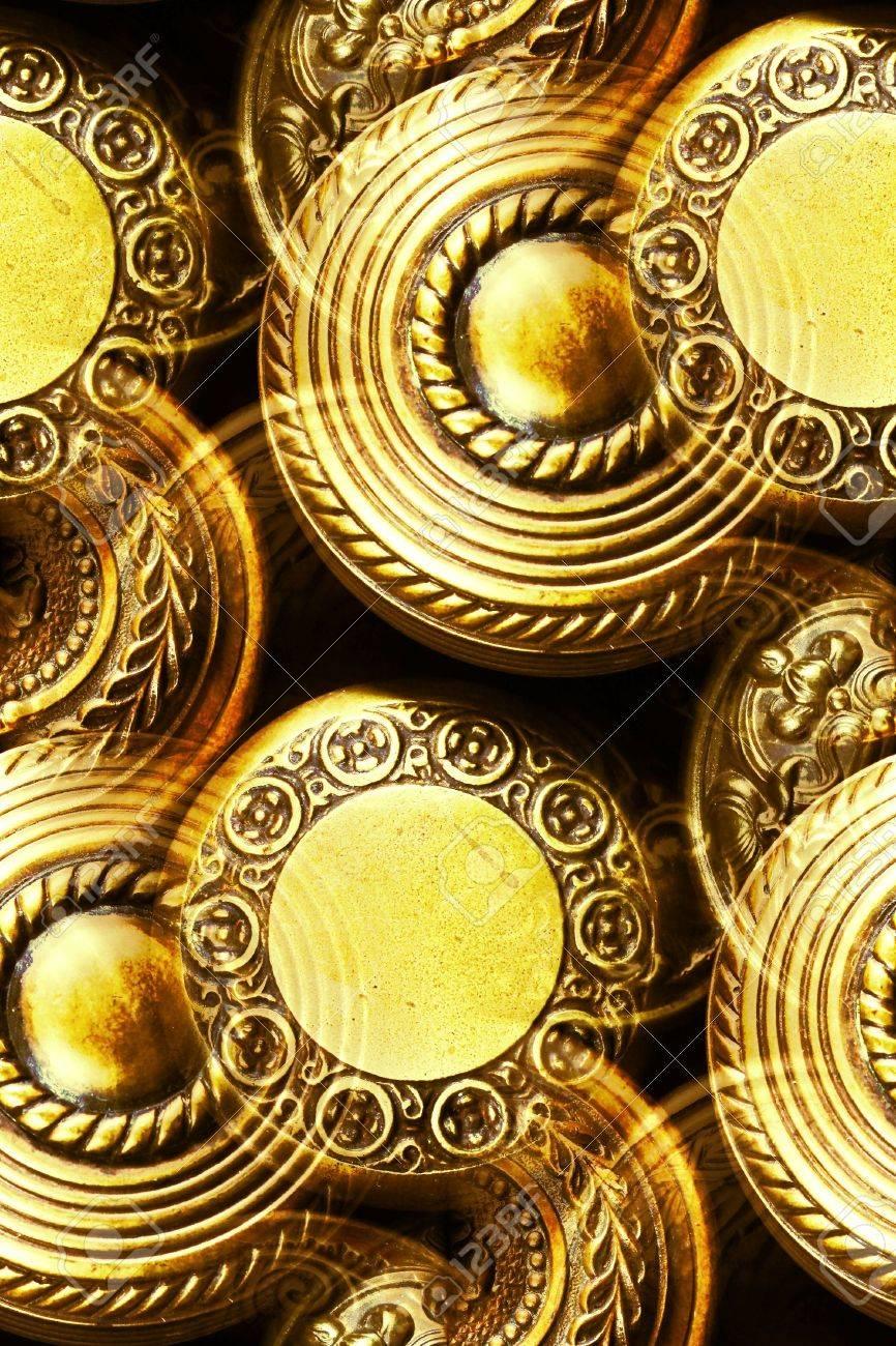 vintage brass door knobs Stock Photo - 6526962