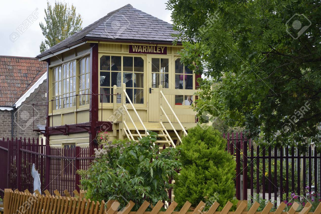 Restored Warmley Station Signal Box On The Avon Cycle Path Between Stock Photo Picture And Royalty Free Image Image 93674926