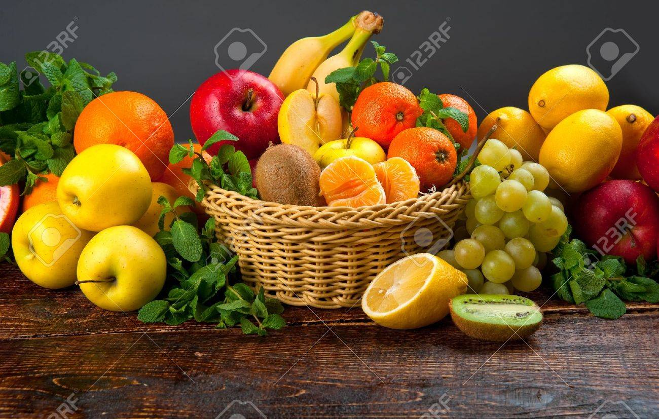 tasty and healthy food vegetables and fruits - 50602402