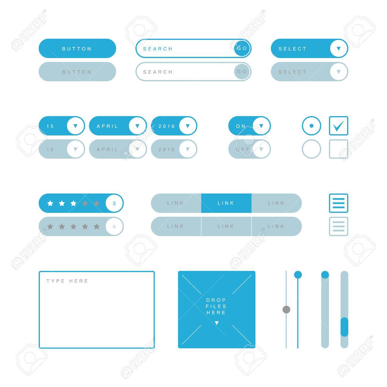 Diagram Of Radio Button Form Wiring Libraries Mini Bike 46cc Ui Design Elements Vector Search Field Selector Checkboxbutton