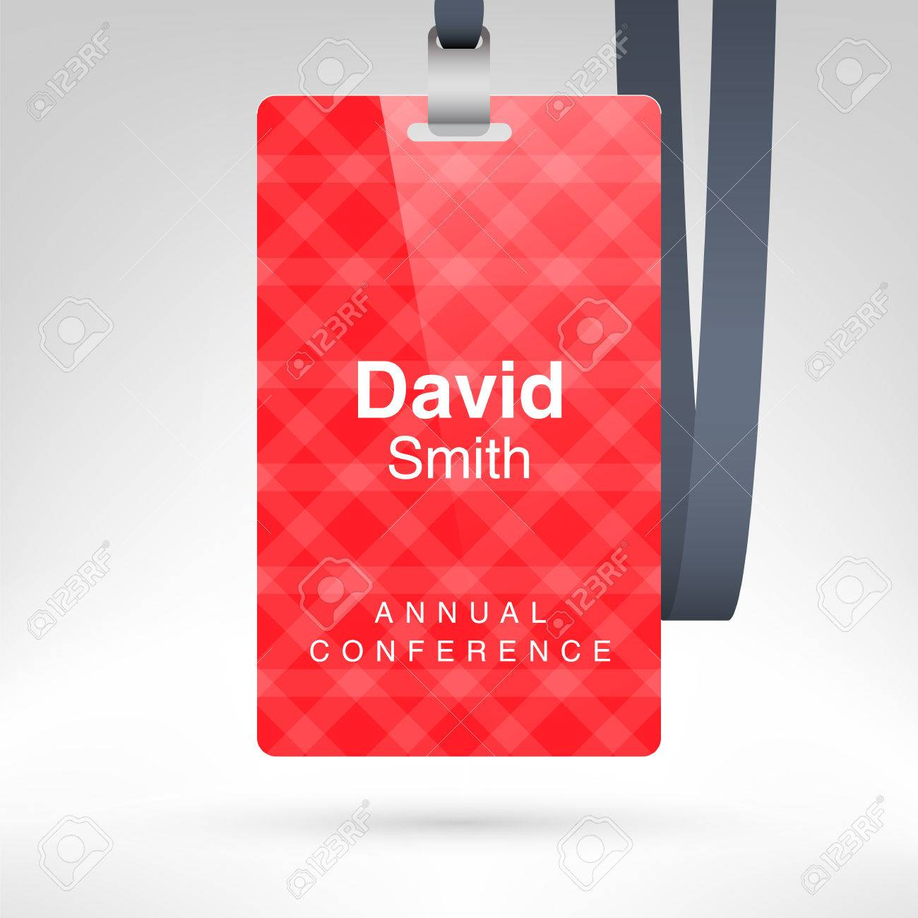 Conference Badge With Name Tag Placeholder Blank Badge Template - Conference badge template