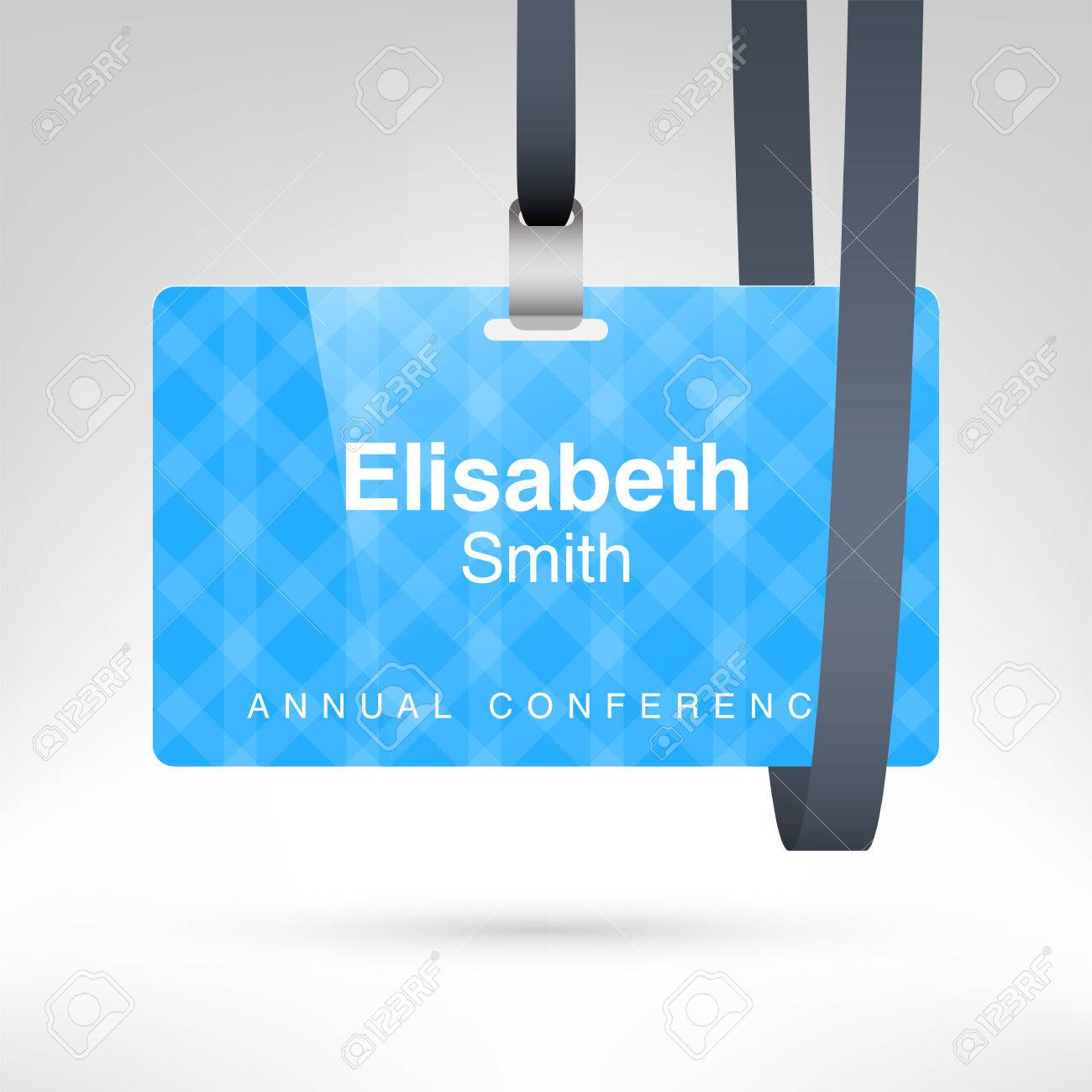 Conference Badge With Name Tag Placeholder Blank Badge Template