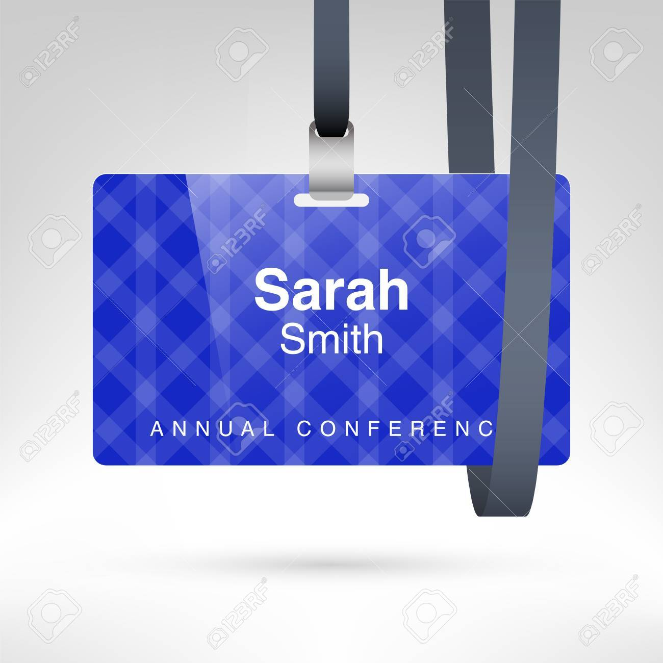 Conference Badge With Name Tag Placeholder Blank Badge Template - Conference name badges template