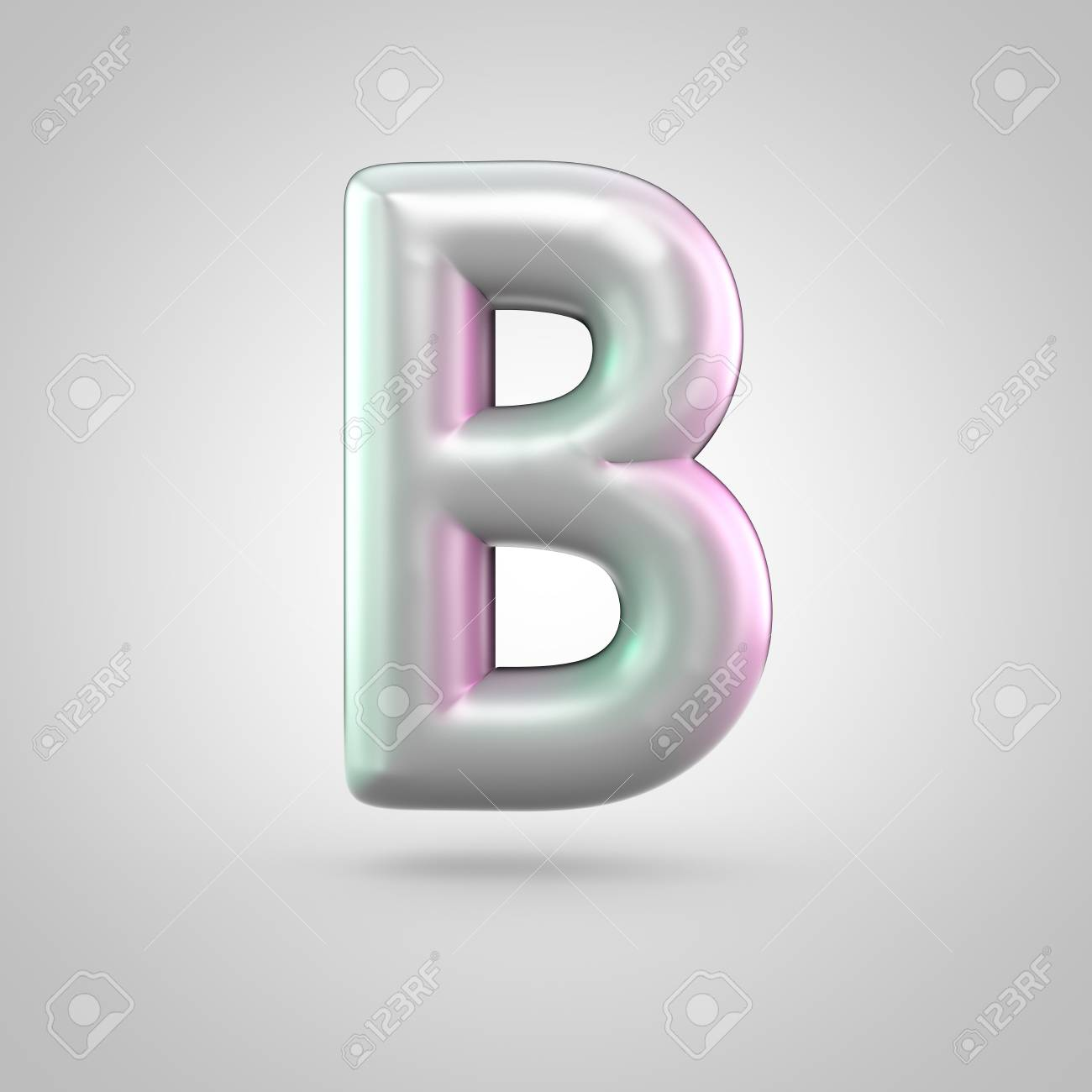 Glossy Perl Letter B Uppercase 3d Render Of Bubble Font With