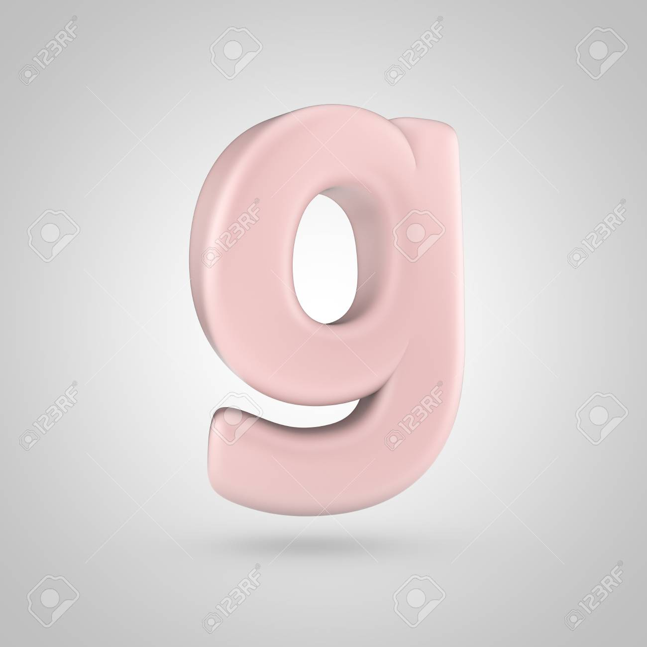 Millenium Pink Color Letter G Lowercase. 3D Render Of Bubble.. Stock ...