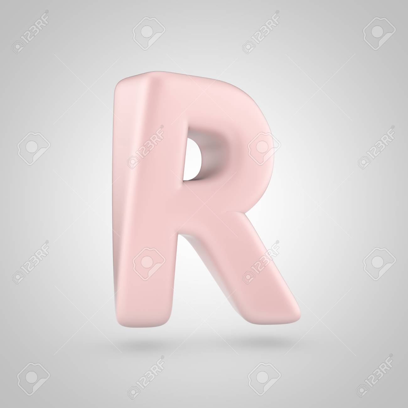 Millenium Pink Color Letter R Uppercase. 3D Render Of Bubble.. Stock ...