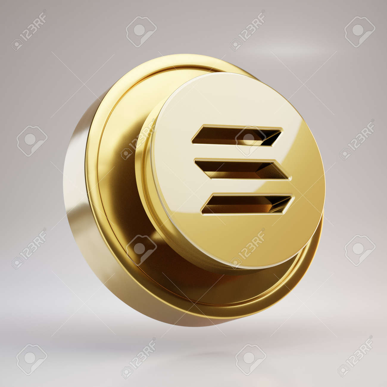 Solana Cryptocurrency Coin. Gold 3d Rendered Coin With Solana.. Stock  Photo, Picture And Royalty Free Image. Image 163394092.
