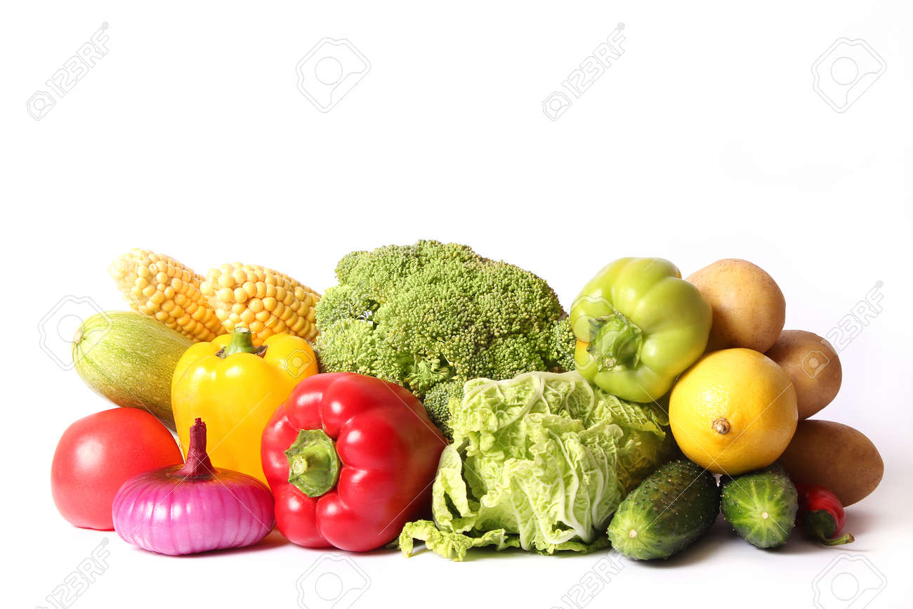 Set of different fresh vegetables close-up. Healthy eating - 168129694