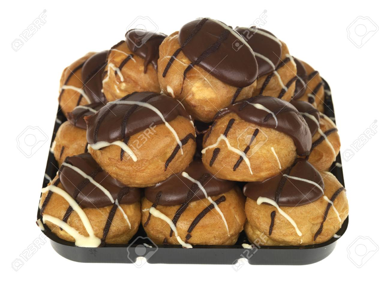 Chocolate Profiteroles Stock Photo - 15615095