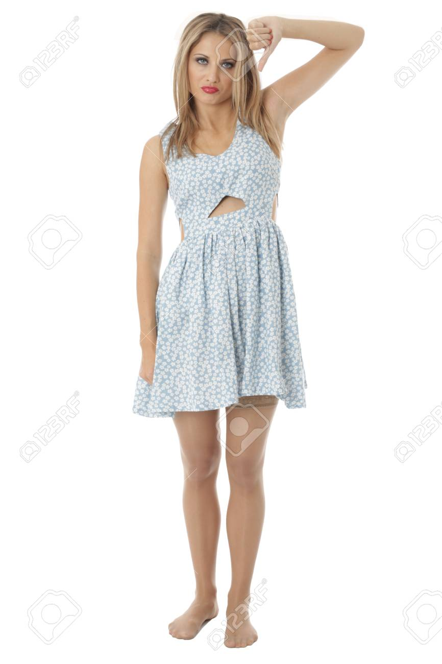 Model Released. Unhappy Young Woman Stock Photo - 21340743