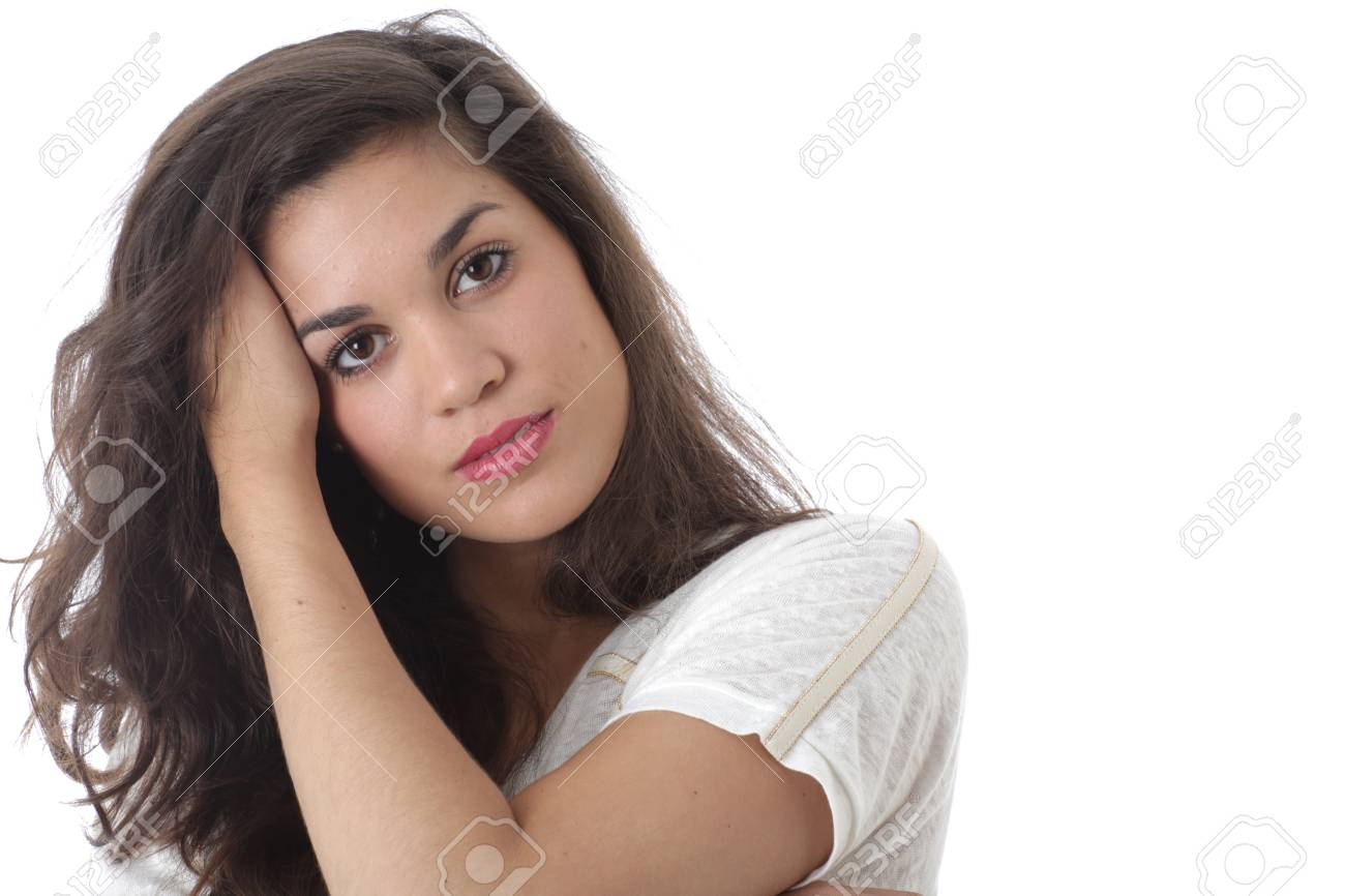 Model Released. Relaxed Thoughtful Attractive Young Woman Stock Photo - 21482402