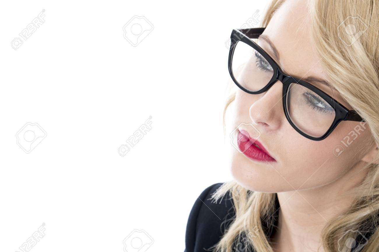 Model Released. Serious Thoughtful Young Business Woman Stock Photo - 22401032