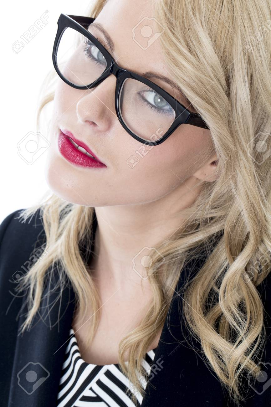 Model Released. Serious Thoughtful Young Business Woman Stock Photo - 22401034