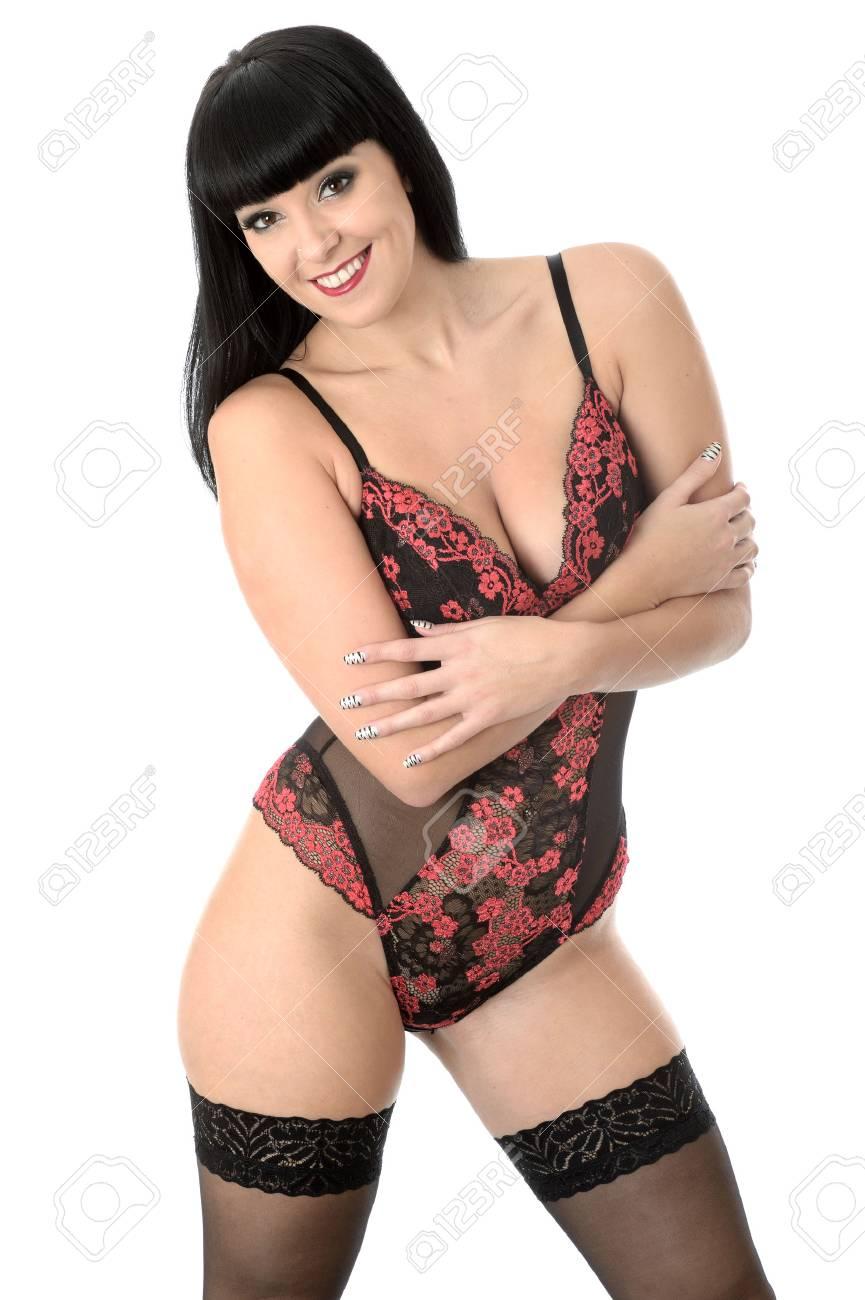 881e1e2c6b86 Pin Up Modelo joven en lencería sexy