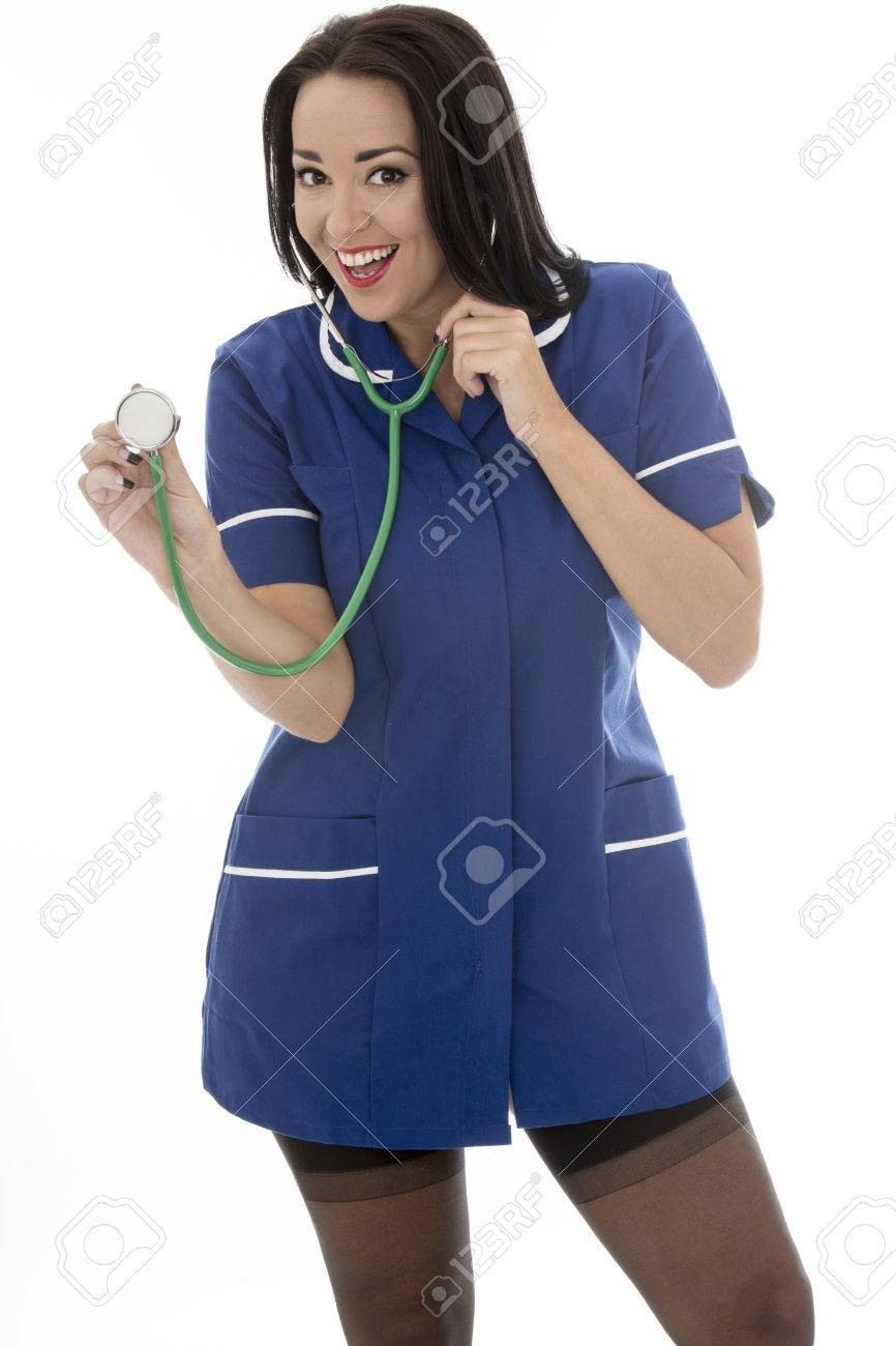 938a6089c07 Sexy Young Pin Up Model Wearing A Nurses Uniform and Black Stockings In Pin  Up Galmour