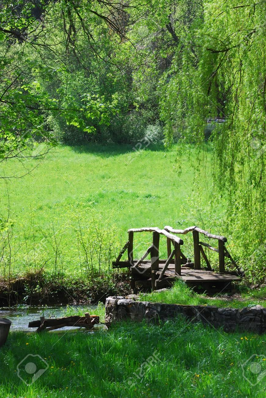 small wodden bridge Stock Photo - 2940257