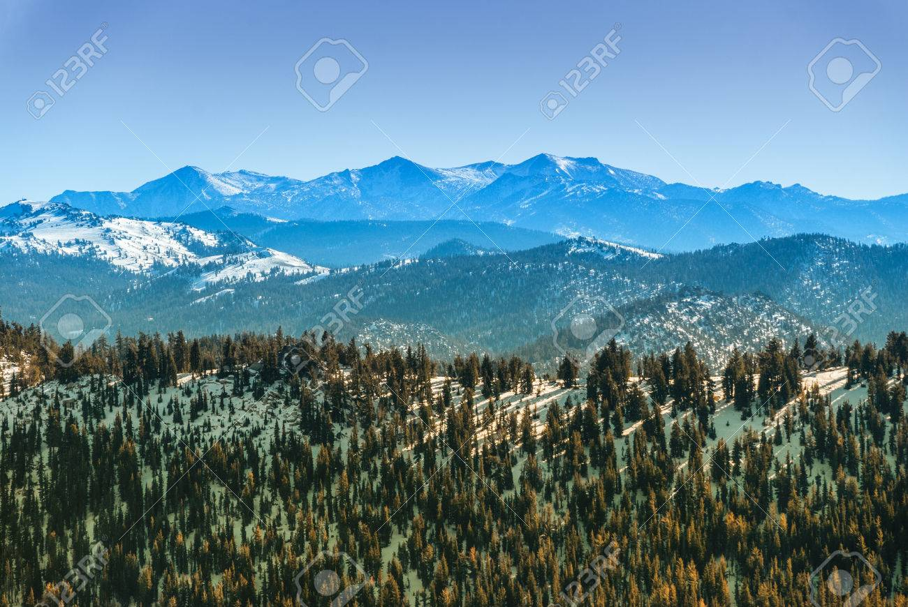 Sierra Nevada Mountain Range In Winter Seen From The North Side Stock Photo Picture And Royalty Free Image Image 66185238