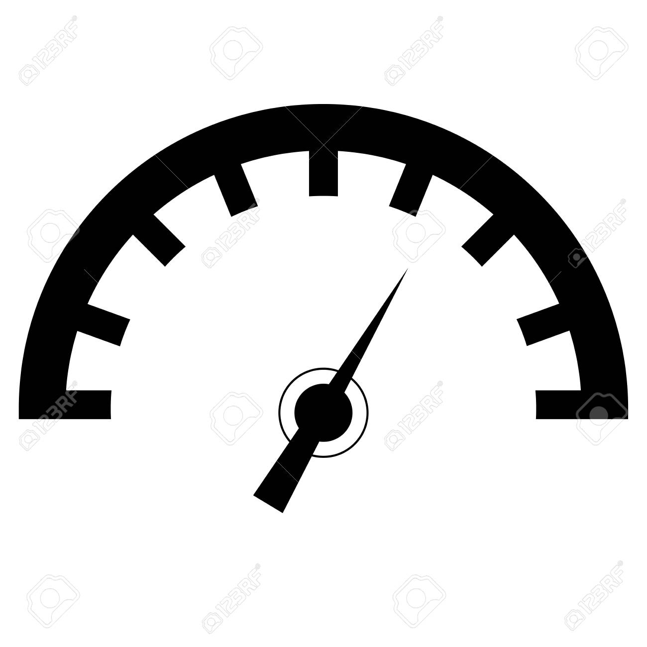 speedometer icon or sign isolated vector on white background rh 123rf com speedometer vector logo speedometer vector free download