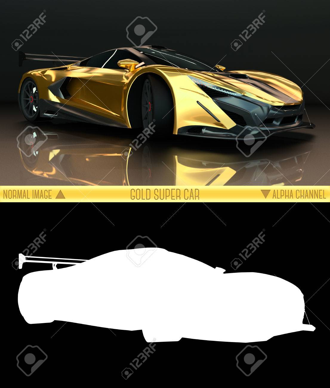 Sports Car Front View The Image Of A Sports Gold Car On A Black Stock Photo Picture And Royalty Free Image Image 49392971