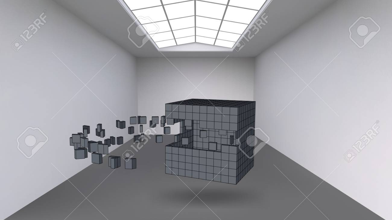 Hanging The Cube From A Multitude Of Small Polygons In The Large ...