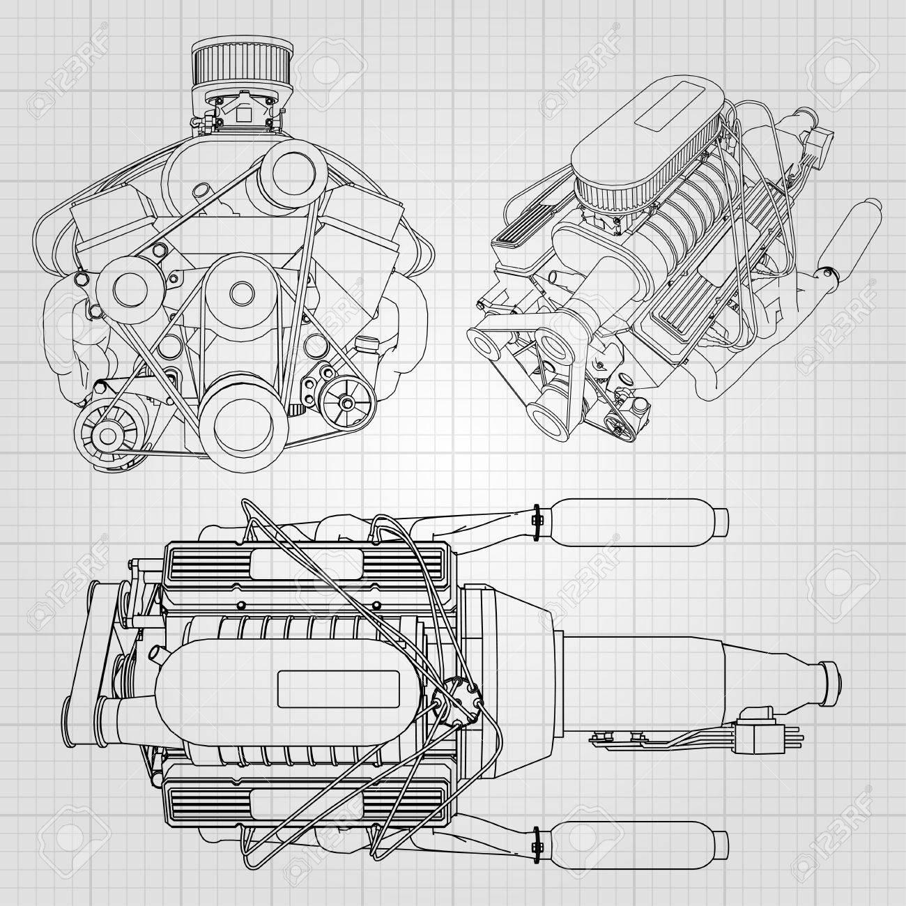 Atemberaubend Diagramm Der Elektrischen Motorkomponenten ...