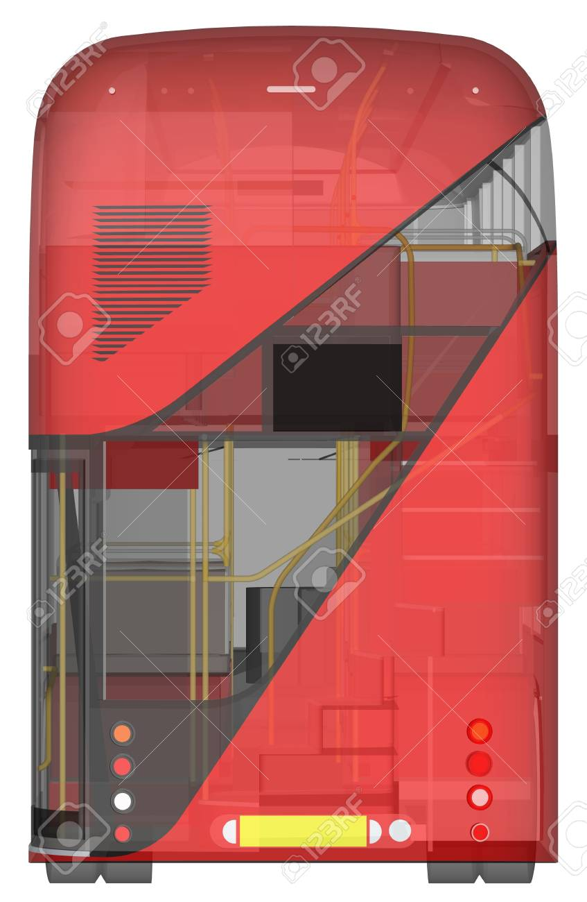 A Double-decker Bus, A Translucent Casing Under Which Many Interior ...