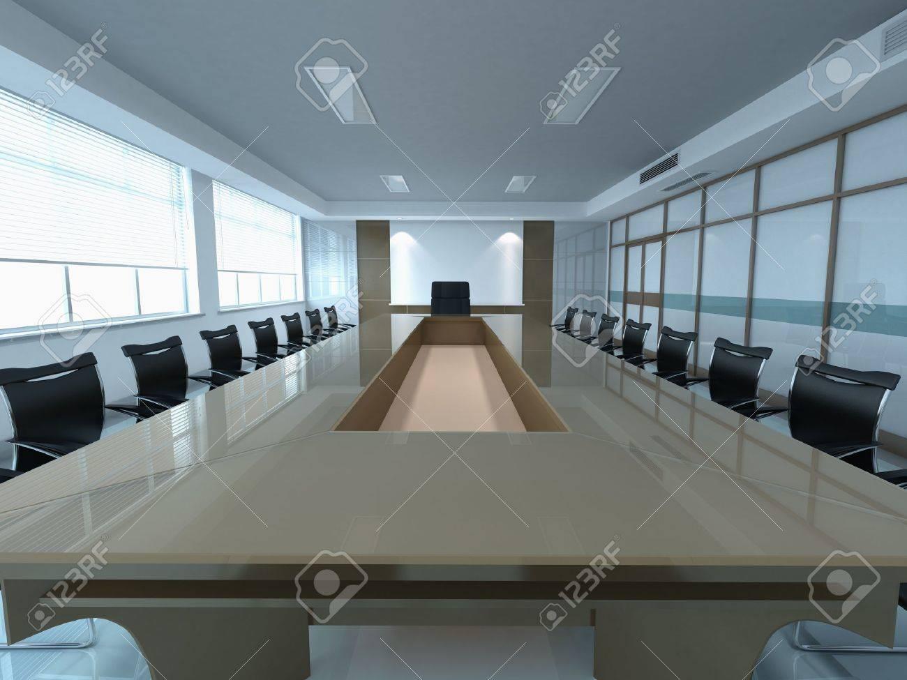 3d modern office meeting room Stock Photo - 10060085