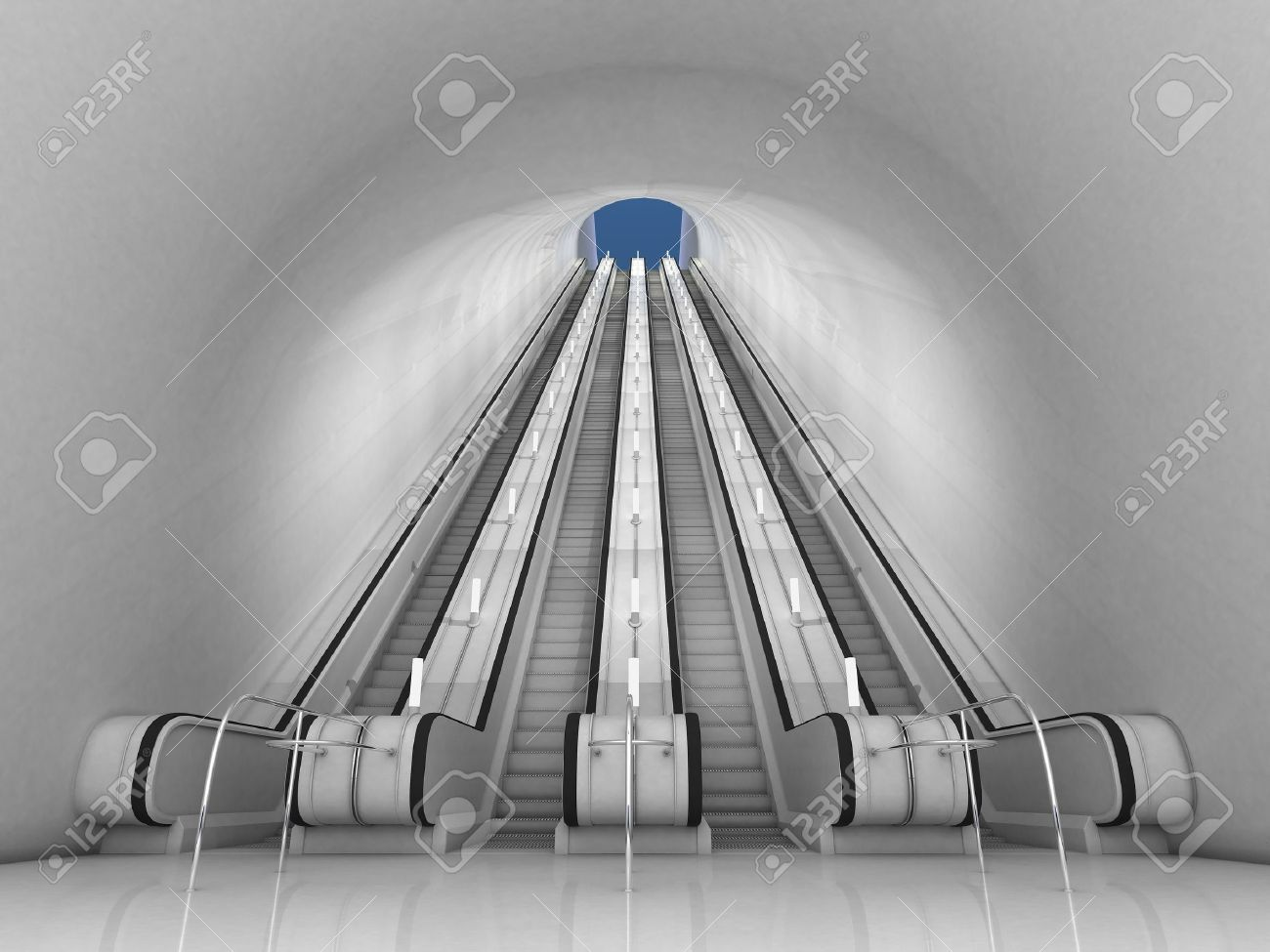 3d escalator Stock Photo - 10170210