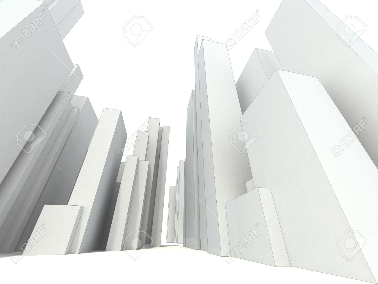 abstract modern city Stock Photo - 10227882
