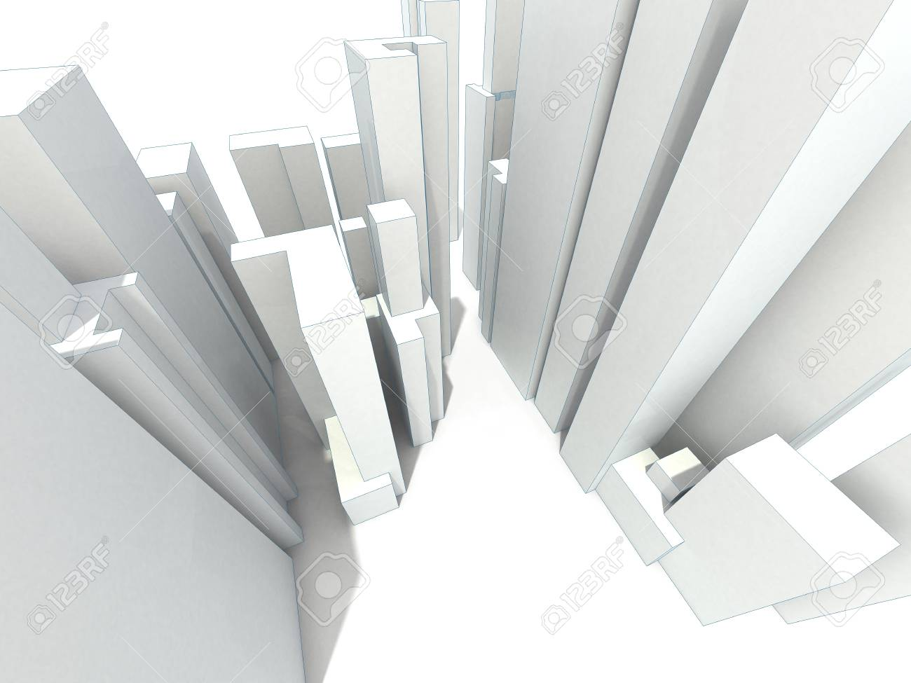abstract modern city Stock Photo - 10250882