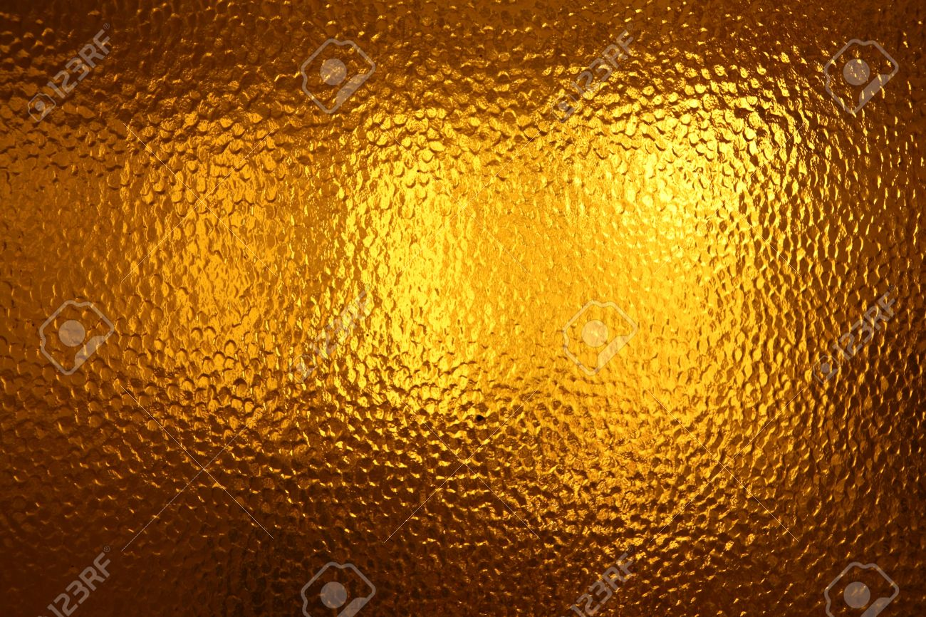 Yellow Glass Texture Stock Photo