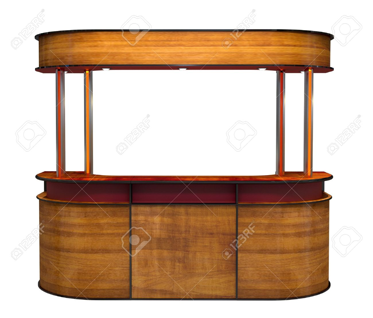 wooden bar counter Stock Photo - 12620220