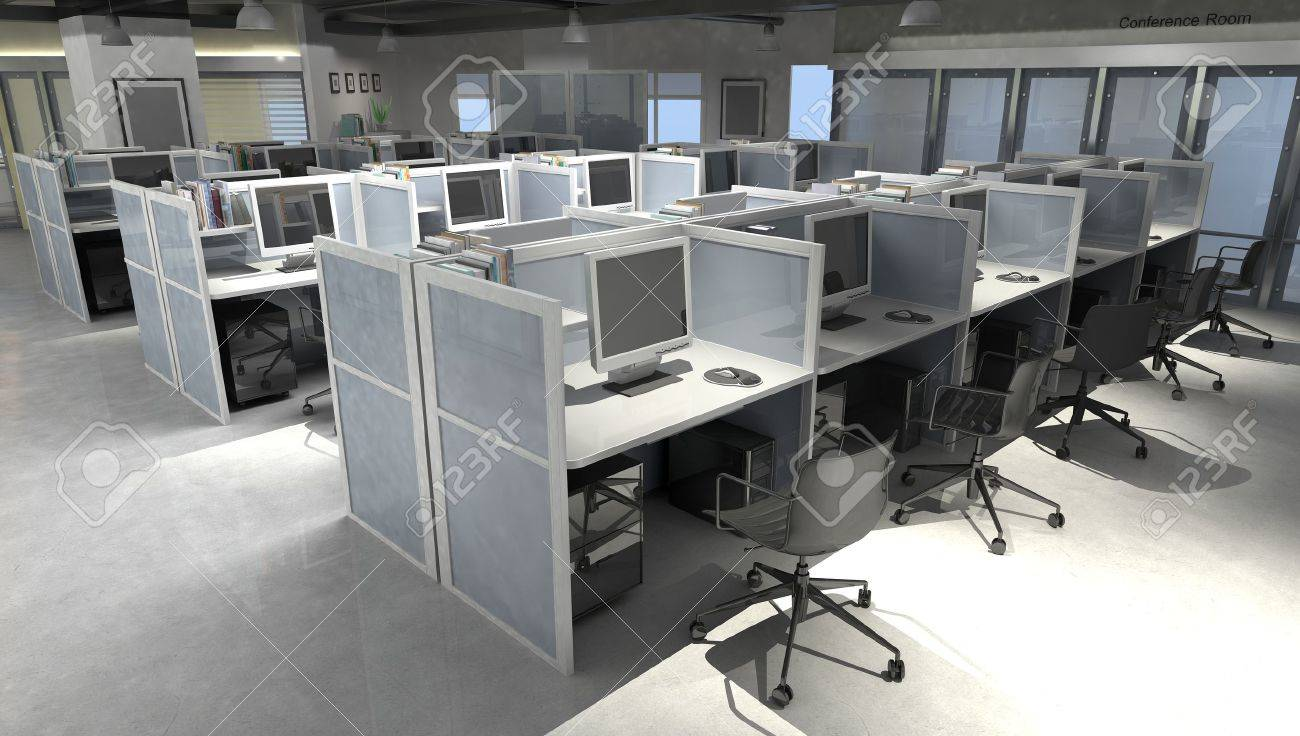 modern office open space interior. modern office open space interior stock photo 18926034 n