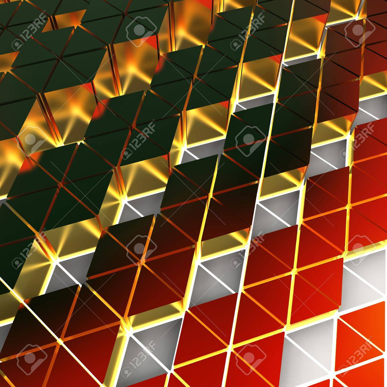 formas de triángulo de oro extruidos para diferentes alta Foto de archivo - 18954400