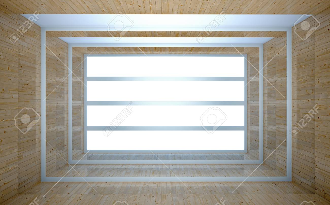 abstract wooden interior with white light Stock Photo - 19098075