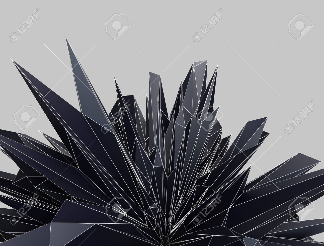 abstract background made of dynamic triangular shapes stock photo
