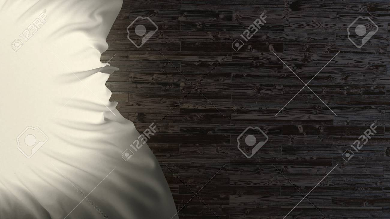 Darkwood flooring and abstract light shines through the fabric Stock Photo - 22468018