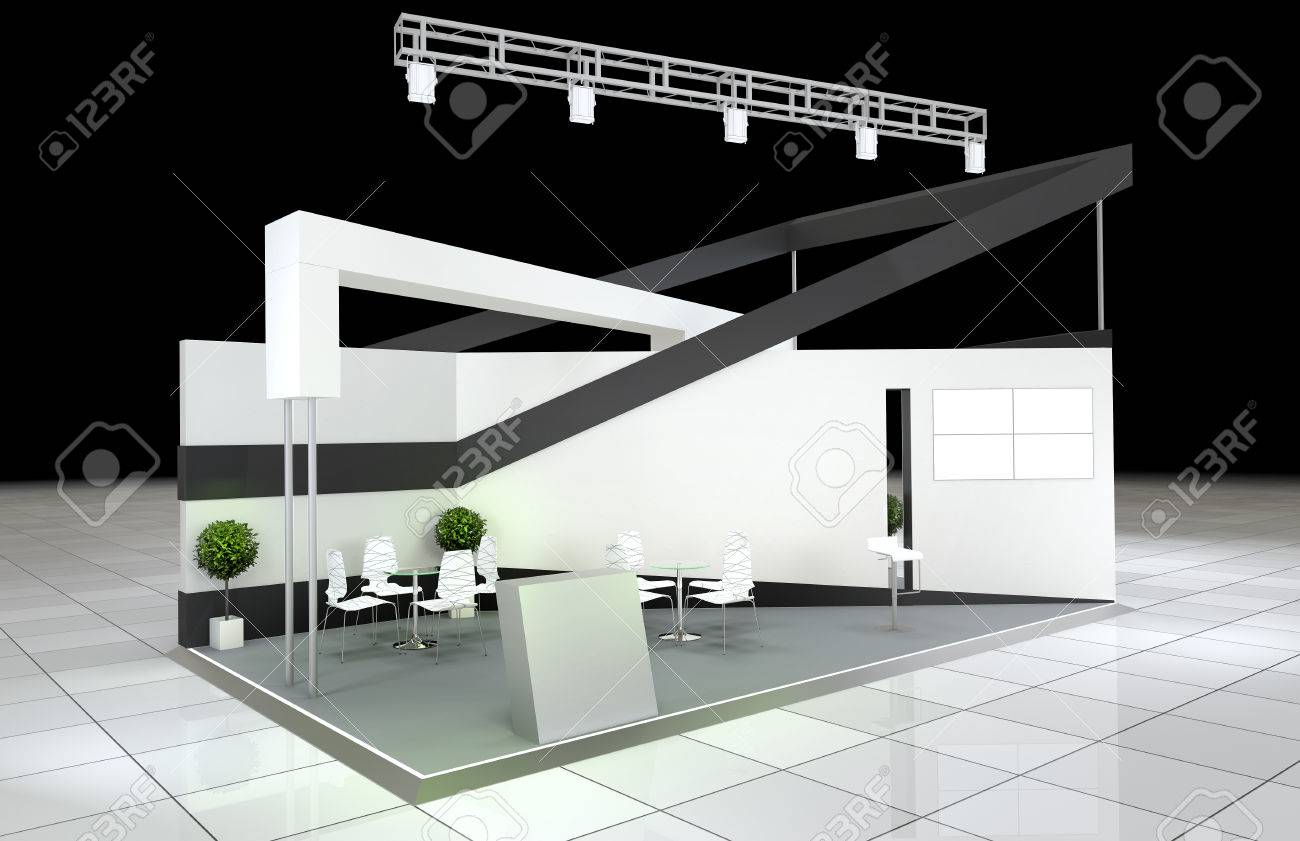 Modern Exhibition Stand Near Me : Modern design abstract exhibition stand stock photo picture and