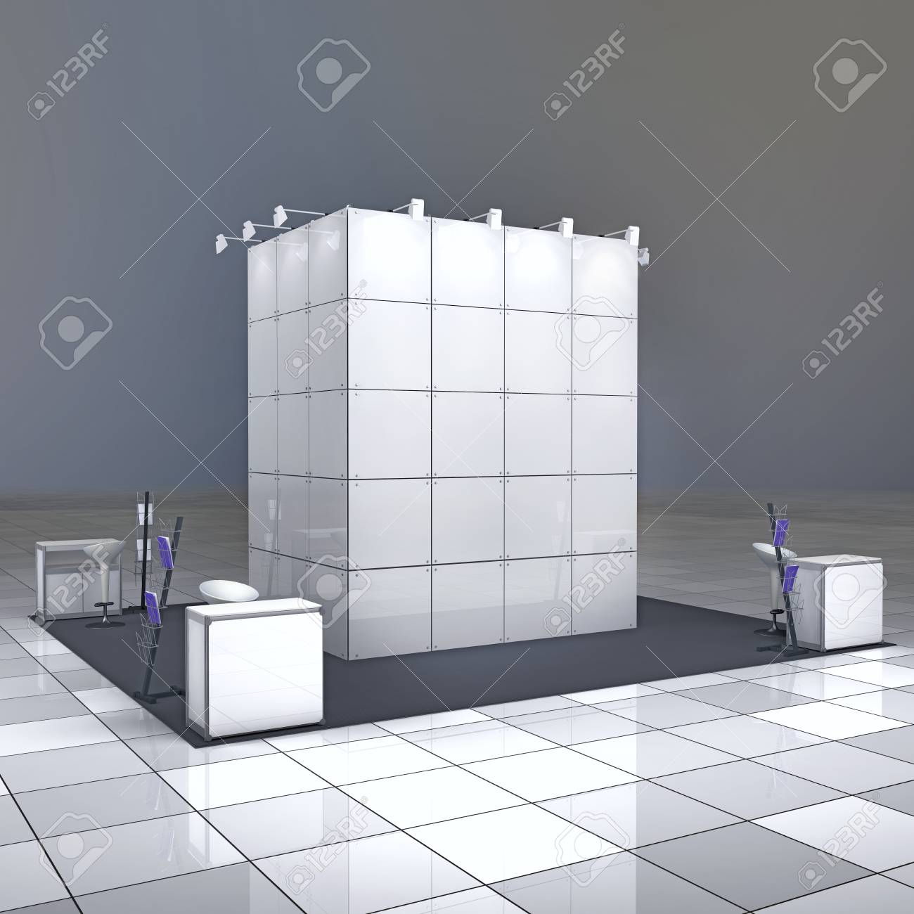 Exhibition Booth Blank : Trade show booth box stock illustration illustration of display